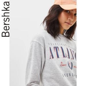 Bershka女士宽松圆领套头印花运动衫休闲薄款卫衣0703149881249元