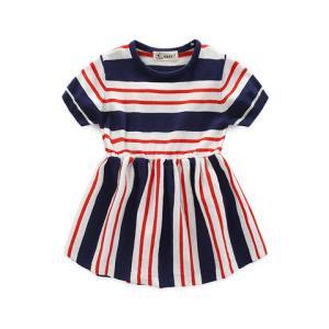 印象童年1-8岁女童新款条纹针织连衣裙56.64元