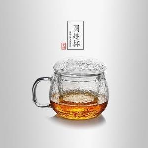 当当优品锤目纹三件式泡茶杯圆趣杯39元
