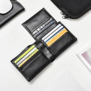 网易严选意式牛皮卡包钱包两件套 71.9元