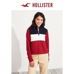 Hollister半拉链运动衫女219908-174元