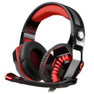 因卓(KOTIONEACH)G2000二代黑红色耳机头戴式电竞低重音带麦立体声线控网吧台式电脑炫光吃鸡游戏耳机71.1元