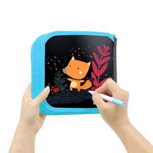儿童画板涂鸦写字白板便携双面可用小黑板可擦水粉笔涂绘画本家用34.8元