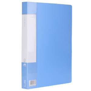 Comix齐心PF40AK资料册文件夹A4/40页蓝色*3件 16.8元(合5.6元/件)