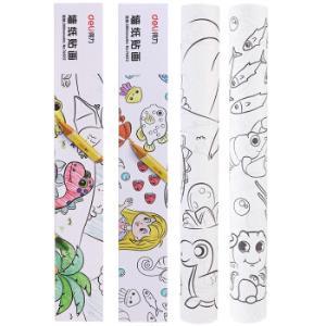 得力(deli)自粘儿童墙纸贴画可涂画创意DIY粘贴儿童填色纸74822*5件 28.75元(合5.75元/件)