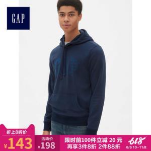 Gap421889男装套头连帽卫衣春装180元(需用券)