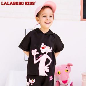 LALABOBO童装夏新款中大童粉红豹连帽薄款卫衣|F02B-KNDT11199.12元(需用券)