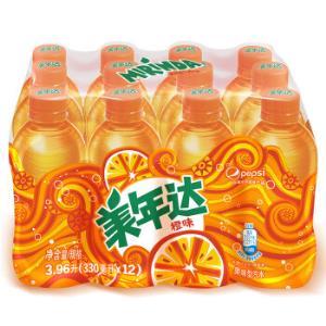 美年达Mirinda橙味汽水碳酸饮料330ml*12瓶整箱装百事可乐公司出品新老包装随机发货13.93元