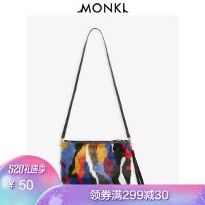 MONKI彩色派对风格包手提包女包斜挎包女包包0551423 50元