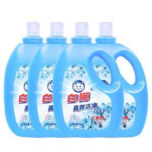 Baimao白猫高效洁净洗衣液3kg*4瓶 59.9元