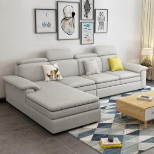 中小户型客厅整装可拆洗中小户型转角沙发全实木框架 2780元