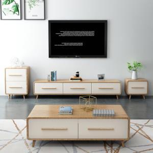 奥左茶几电视柜组合套装北欧现代客厅家具1.8米电视柜1.3米茶几*4件 9689.28元(合2422.32元/件)