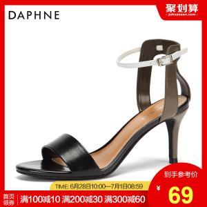 Daphne 达芙妮 休闲时尚细跟凉鞋  69元