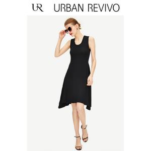 UR2019春夏新品女装纯色紧身圆领无袖针织连衣裙WG12R9FN2000139元