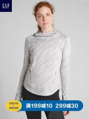 GapFit系列女装运动卫衣364105休闲透气连帽衫女士时尚套头上衣210元(需用券)