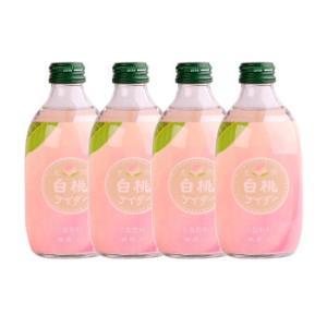 日本进口友�埽�jie)碳酸饮料白桃味果味汽水300ml*4瓶装36元