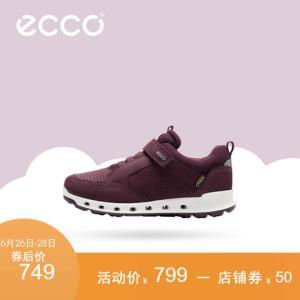 ECCO爱步童鞋新款魔术贴休闲鞋轻盈透气运动鞋透氧系列706052 749元