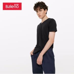 班尼路(Baleno)T恤男2019年夏季棉质V领短袖上衣宽松打底衫男8890270100AXXL*6件98元(合16.33元/件)