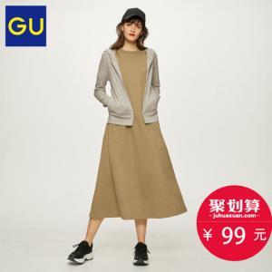 GU极优女装拉链连帽开衫2019年夏季新品经典卫衣舒适外套31428899元