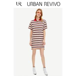 URBANREVIVO撞色条纹连衣裙WG07R7BN2000 79元