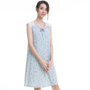 dingguagua 顶瓜瓜 t70436-Q 女士纯棉睡裙 *2件  121.5元(合60.75元/件)
