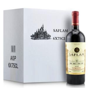 西夫拉姆AOP干红葡萄酒750ml*6瓶整箱装法国进口红酒193元(需用券)