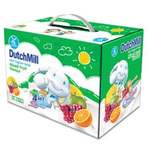 泰国进口达美(DutchMill)混合味酸奶饮品礼盒装90ml×24春节新年礼盒礼品*2件49.8元(合24.9元/件)
