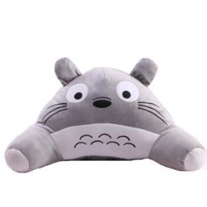 郁闷猪可爱龙猫抱枕毛绒玩具靠垫情人节礼物生日礼物汽车腰垫办公室护腰枕*9件 205元(合22.78元/件)