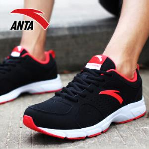 安踏ANTA官方旗舰91545546男鞋运动鞋男子轻质时尚跑鞋跑步鞋黑/火花红/安踏白8.5(男42)169元
