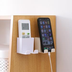 MOYOU日式壁挂遥控器收纳盒粘贴式手机充电插头支架耳机整理盒三个装12.9元包邮(需用券)