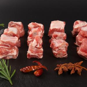得利斯黑山猪猪肋排段500g/袋生鲜烧烤食材黑猪肉排骨*6件 153元(合25.5元/件)