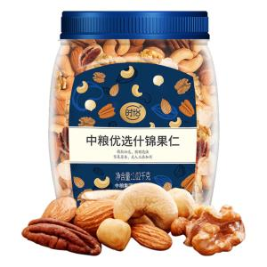 5种坚果仁、没有花生!1.02kg罐装 中粮旗下 时怡 什锦坚果仁 109元包邮