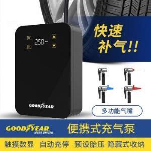 固特异(Goodyear)数显触摸车载充气泵轮胎加气泵便携款汽车打气泵车用GY-3302黑色151元