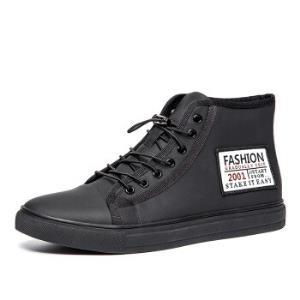 KANGLONG康龙韩版潮流板鞋时尚高帮鞋黑色28311201839码149元