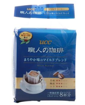悠诗诗(UCC)滴滤挂耳式职人咖啡粉(圆润柔和)7g*8p/袋日本进口*7件 141.5元(需用券,合20.21元/件)