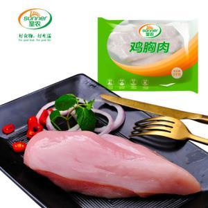 圣农去皮鸡胸肉新鲜冷冻鸡胸批发健身代餐食材单冻大胸共5袋5000g149元(需用券)