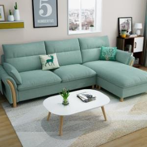 一米色彩北欧日式小户型布艺沙发2.6米 1858元包邮(需用券)