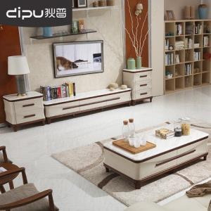 狄普大理石茶几电视柜组合客厅烤漆小户型茶几地柜组合成套家具2180元