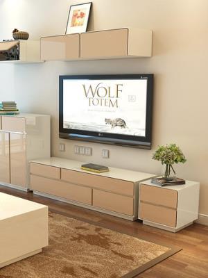 现代简约电视柜茶几组合套装客厅家具钢琴烤漆小户型地柜电视柜1071元