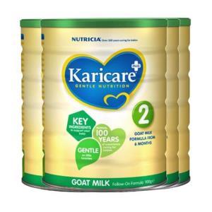 预定:Karicare可瑞康婴幼儿羊奶粉2段900g4罐装796元包邮(定金20元,合199元/件)