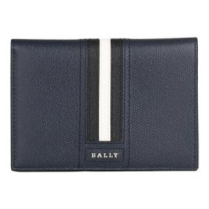 BALLY巴利奢侈品男士翡翠蓝色黑白条纹皮质护照夹卡夹TALKNISLT176218075943元