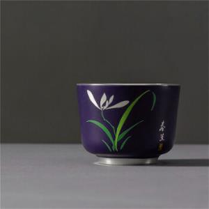 AlfunBel艾芳贝儿陶瓷茶杯内镶银功夫茶杯 99元