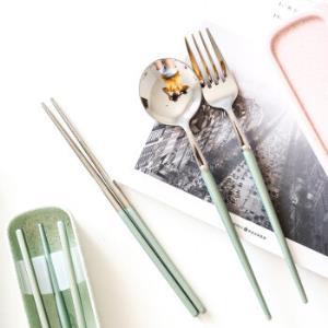 不锈钢便携餐具学勺子筷子套装 29元