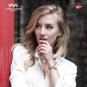 LARSLARSEN拉尔森丹麦原产蓝宝石镜面粉色潮流腕表简约石英手表女 639元