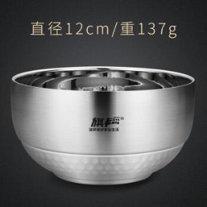 加深加厚304不锈钢碗双层隔热防烫防摔 19.9元
