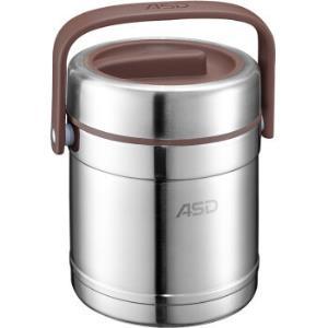 爱仕达臻悦多层保温饭盒保温桶分层手提304不锈钢提锅三层小学生饭盒餐盒RWS15TY1.5L44.5元
