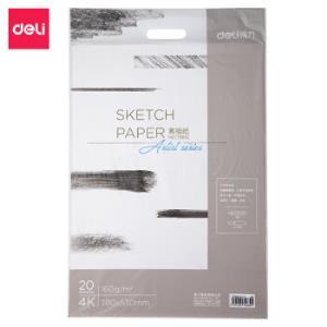 得力(deli)20张160g4K加厚美术绘画专用素描纸铅画纸画画纸写生美术绘画纸73612*4件 39.8元(需用券,合9.95元/件)