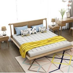 西来古镇C905白蜡木实木双人床1.5米 1380元包邮(需用券)