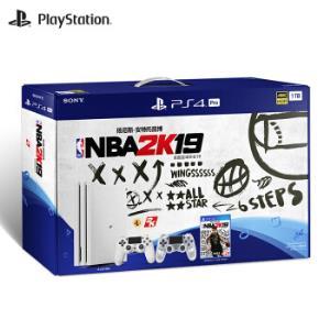 SONY索尼PlayStation4Pro(PS4Pro)游戏主机NBA2K19双手柄套装 3099元