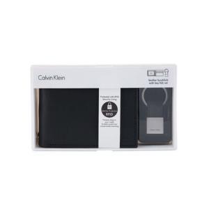 CalvinKlein卡文克莱79220-BLK男士短款皮夹钱包零钱包黑色礼盒装*2件 377.57元(合188.79元/件)